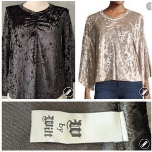 W by Wilt crushed velvet top 2689